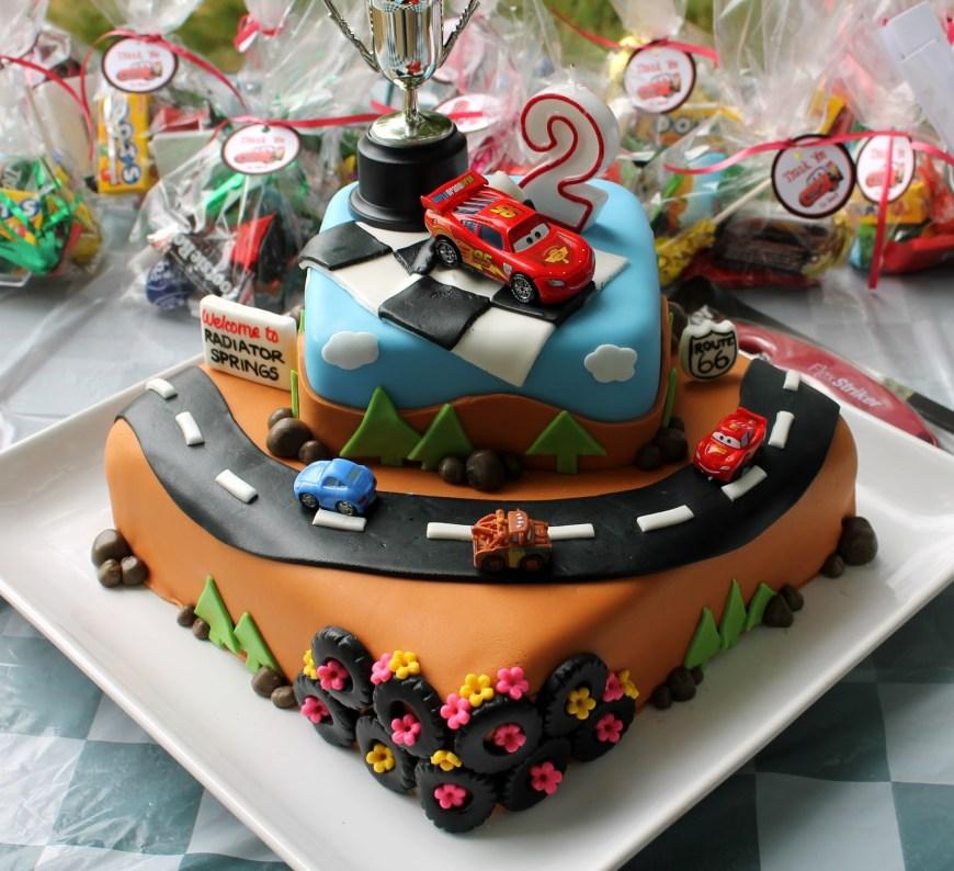 2Nd Birthday Cake Sarah Leavitts Cakes Masons 2nd Birthday Cake Cars Theme