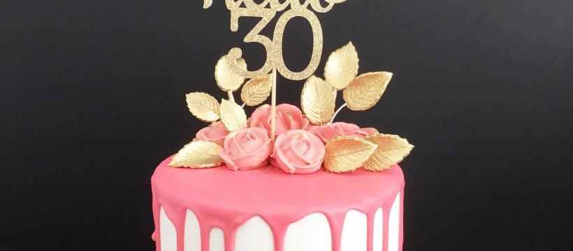 30Th Birthday Cakes Hello 30 Glitter Cake Topper Any Age Cake Topper 30th Birthday
