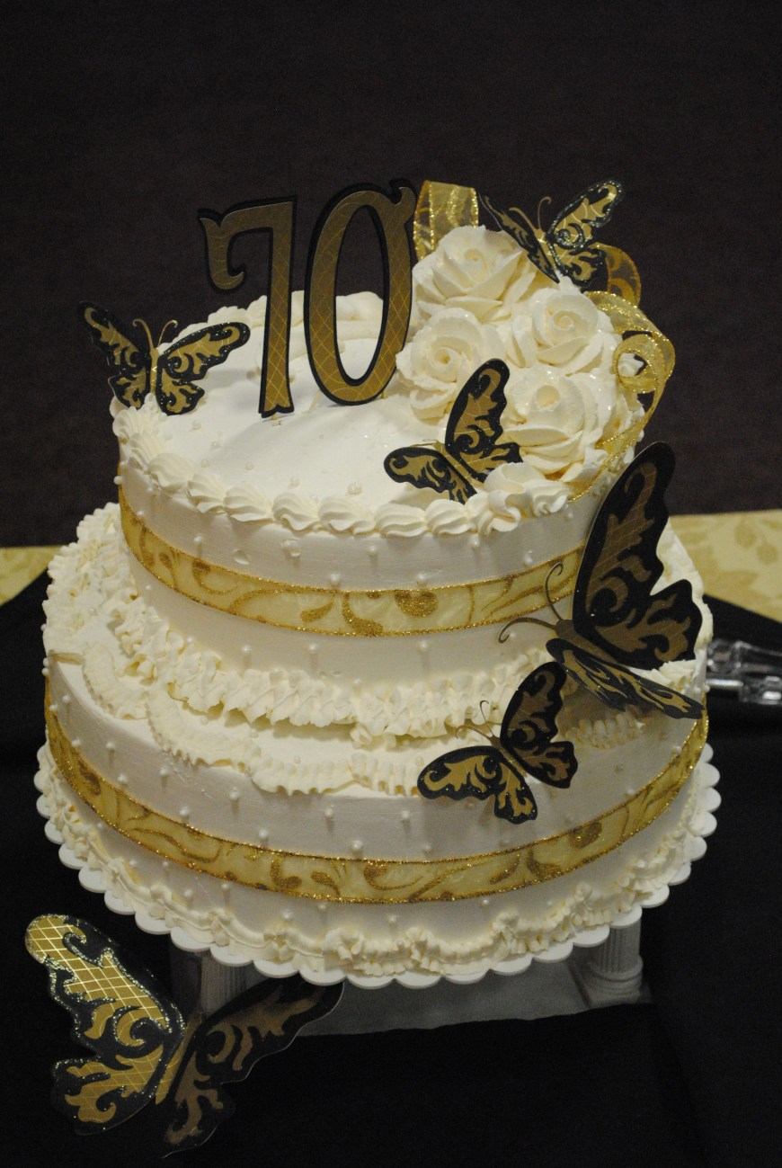 70Th Birthday Cake Ideas Black And Gold 70th Birthday Cake Cakes In 2018 Pinterest