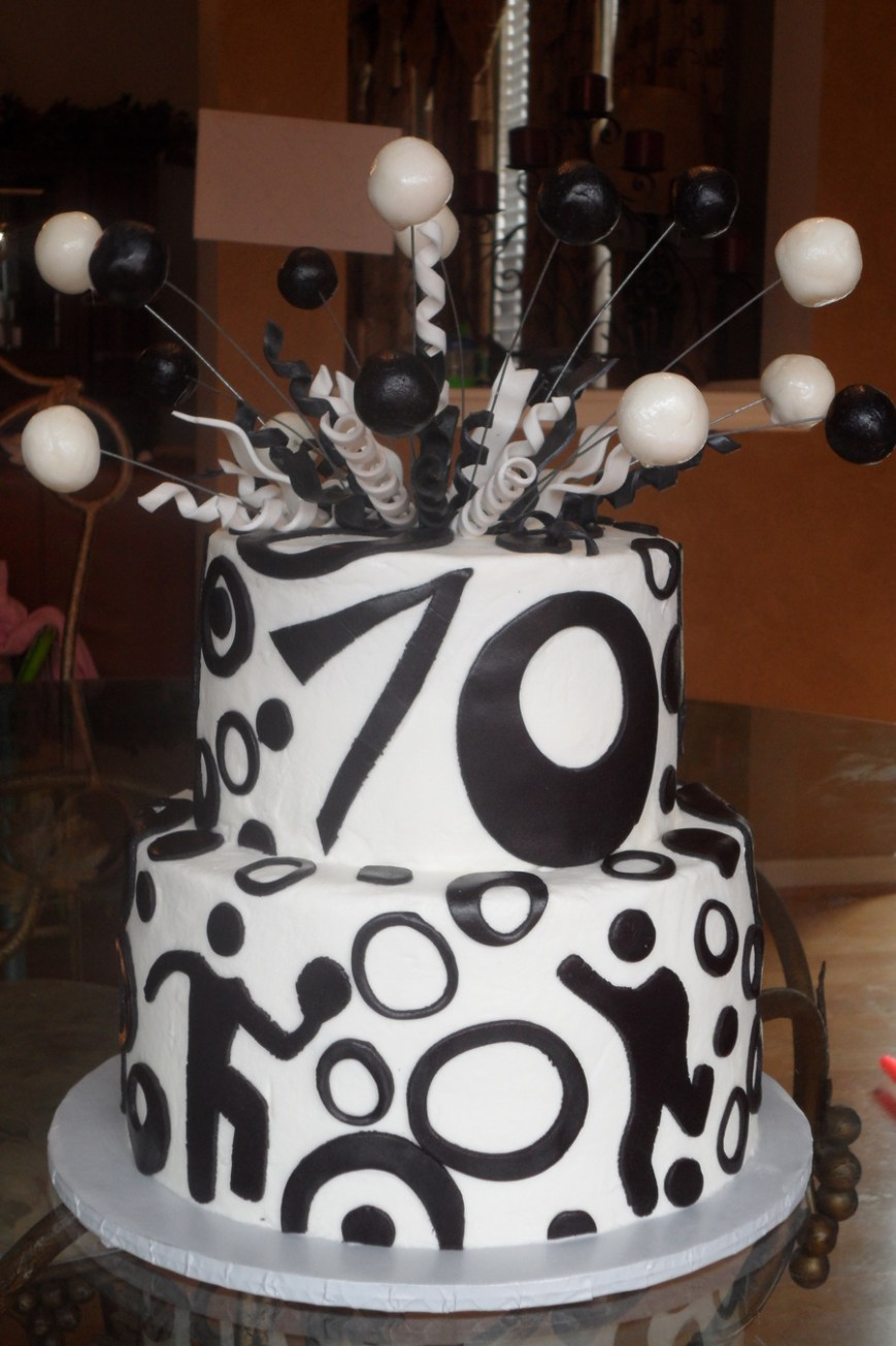 70Th Birthday Cake Ideas Black And White 70th Birthday Cake Cakecentral