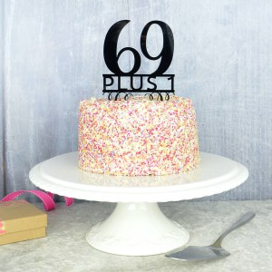 70Th Birthday Cakes 70th Birthday Cake Topper Pink And Turquoise Notonthehighstreet