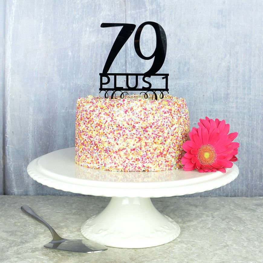 80Th Birthday Cake Ideas 80th Birthday Cake Topper Pink And Turquoise Notonthehighstreet