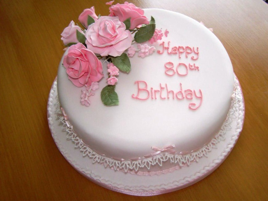80Th Birthday Cake Ideas Best 80th Birthday Cake Ideas With Photos Various Cake Photos