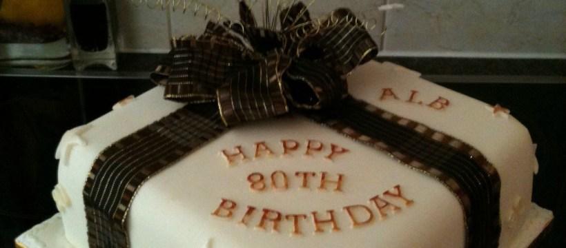 80Th Birthday Cake Ideas Black And Cream 80th For Men