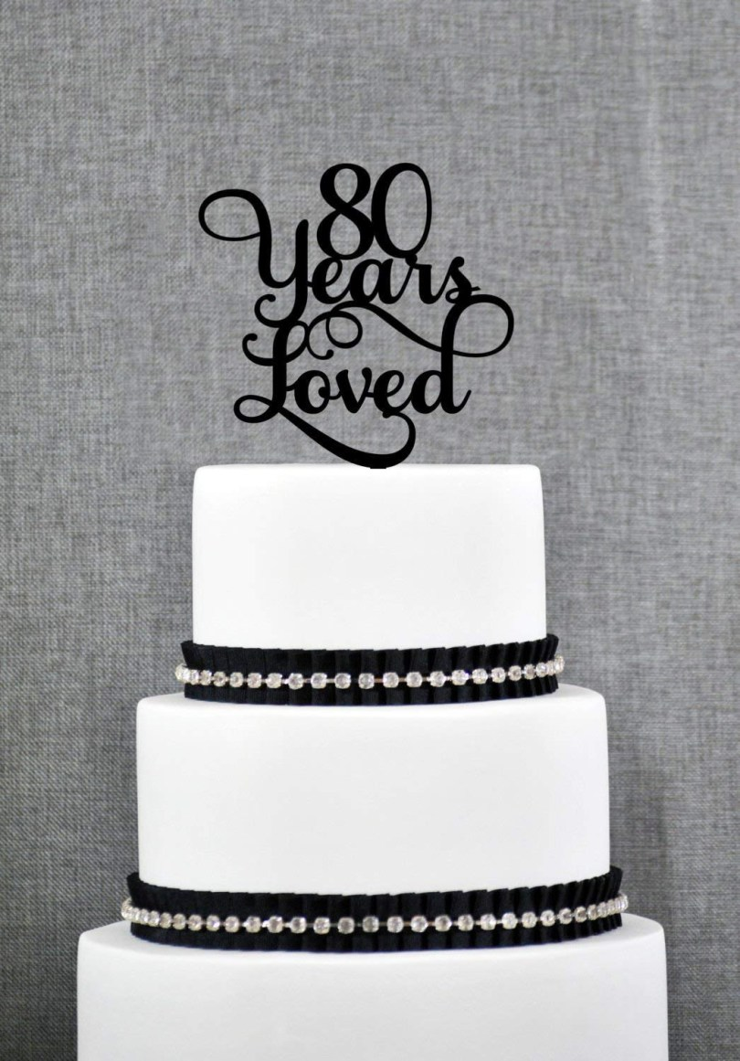 80Th Birthday Cake Ideas Cheap 80th Birthday Cake Toppers Find 80th Birthday Cake Toppers