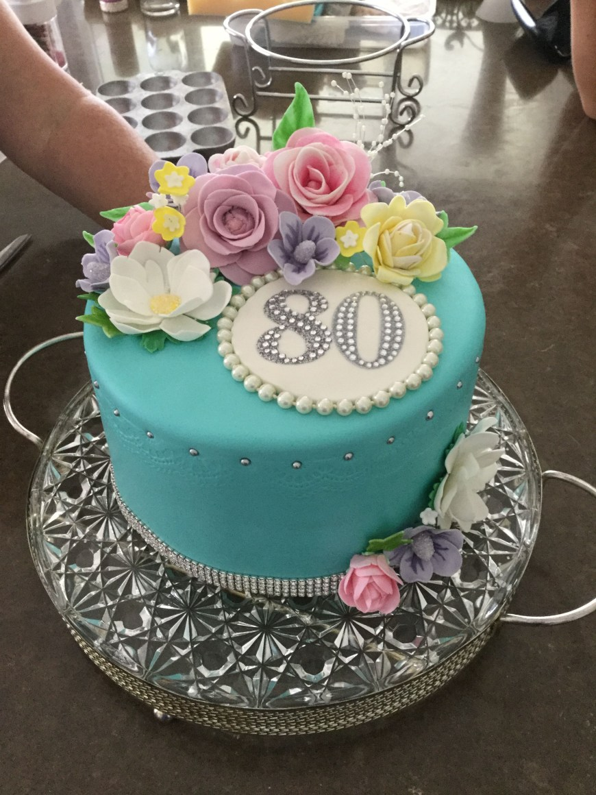 80Th Birthday Cake Ideas Floral 80th Birthday Cake Dirty Thirty Pinterest Pastel De