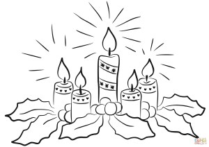 Advent Wreath Coloring Page Advent Candles Coloring Page Free Printable Coloring Pages