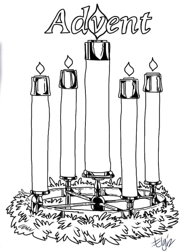 Advent Wreath Coloring Page Advent Candles Coloring Pages Ministry To Children