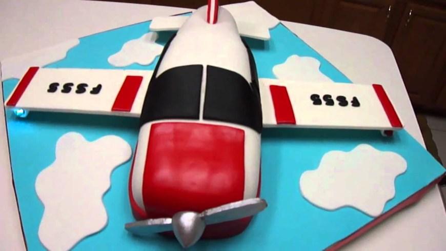 Airplane Birthday Cake Airplane Birthday Cake Youtube