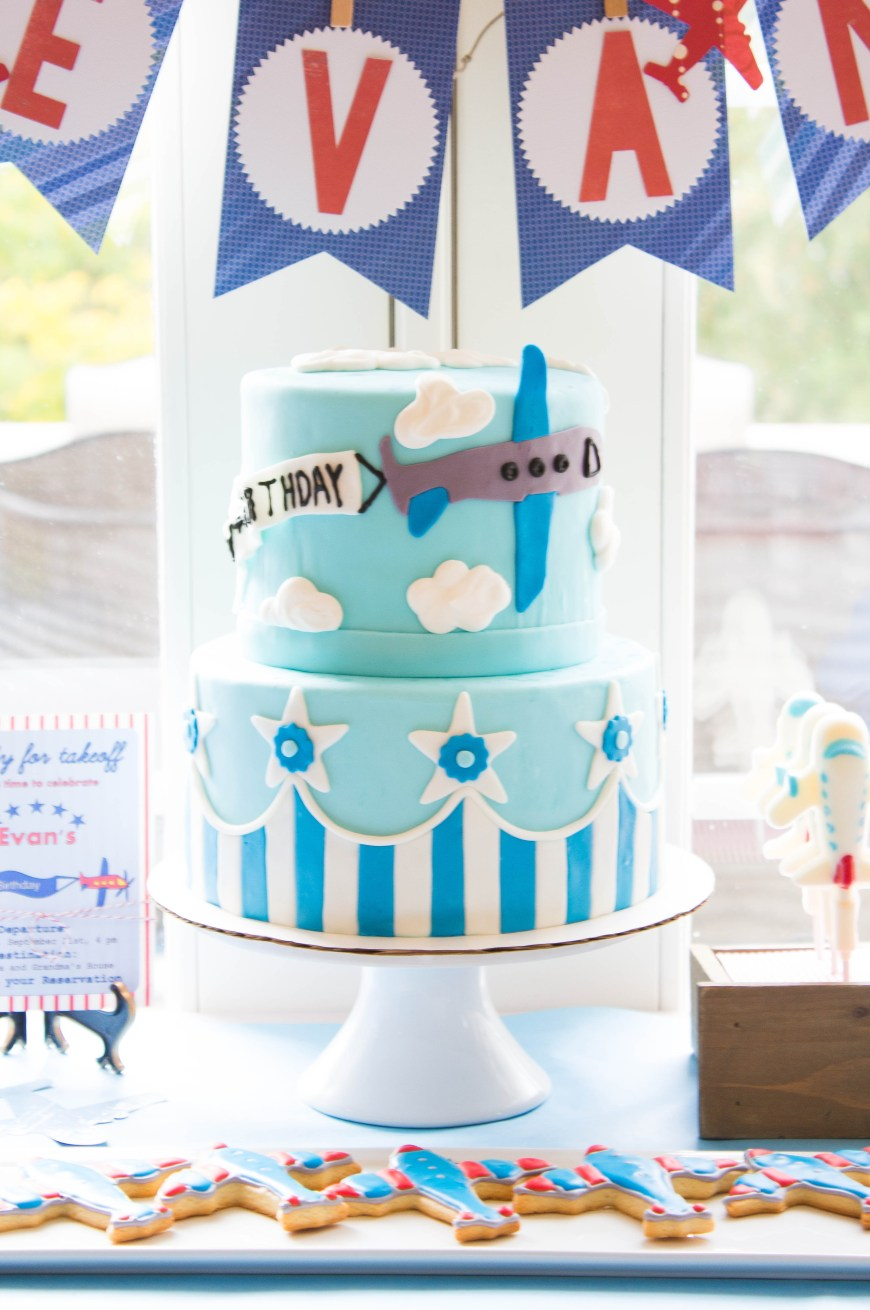 Airplane Birthday Cake Airplane Cake For A Vintage Airplane Themed Birthday Party