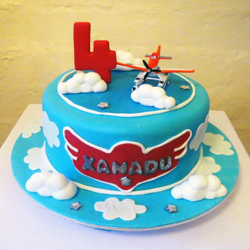 Airplane Birthday Cake Themed Kids Three Sweeties
