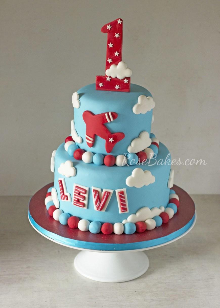Airplane Birthday Cake Airplanes Cake For 1st Birthday Beautiful Cakes Cupcakes