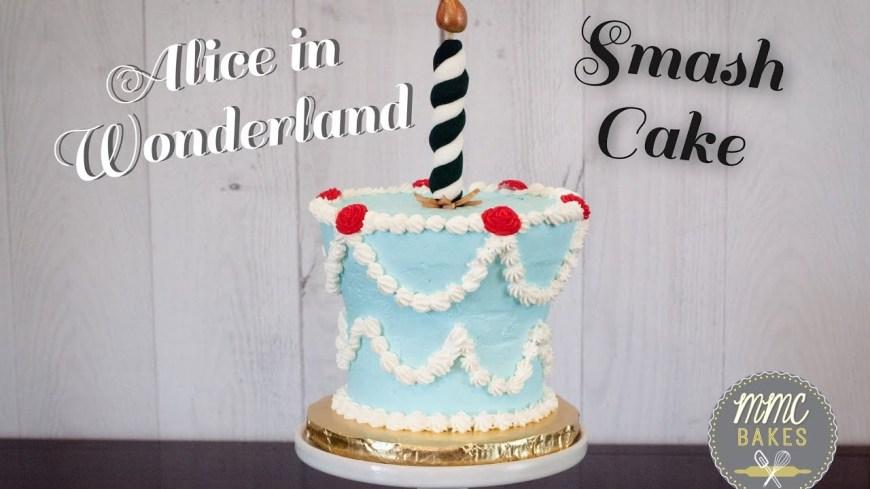 Alice In Wonderland Birthday Cake Alice In Wonderland Cake Quick Tutorial Mmc Bakes Youtube