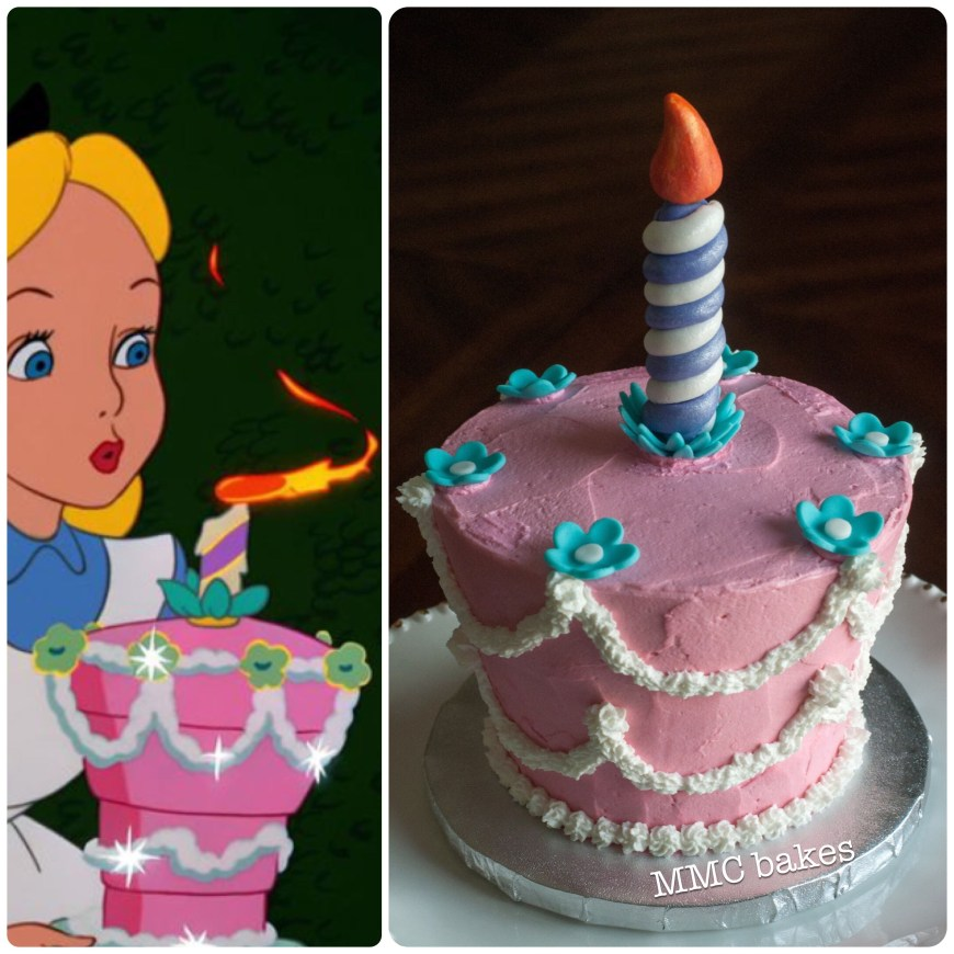 Alice In Wonderland Birthday Cake Alice In Wonderland Smash Cake Smash Cake 1st Birthday Alice In