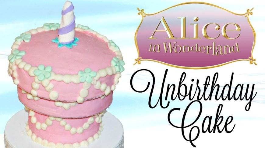 Alice In Wonderland Birthday Cake Alice In Wonderland Unbirthday Cake Fiction Food Friday Youtube