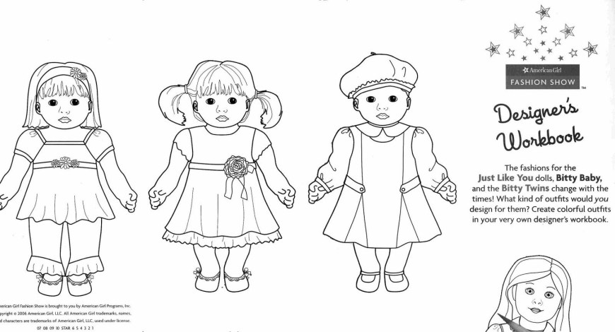 American Girl Doll Coloring Pages American Girl Doll Coloring Pages 14 Pictures Colorine
