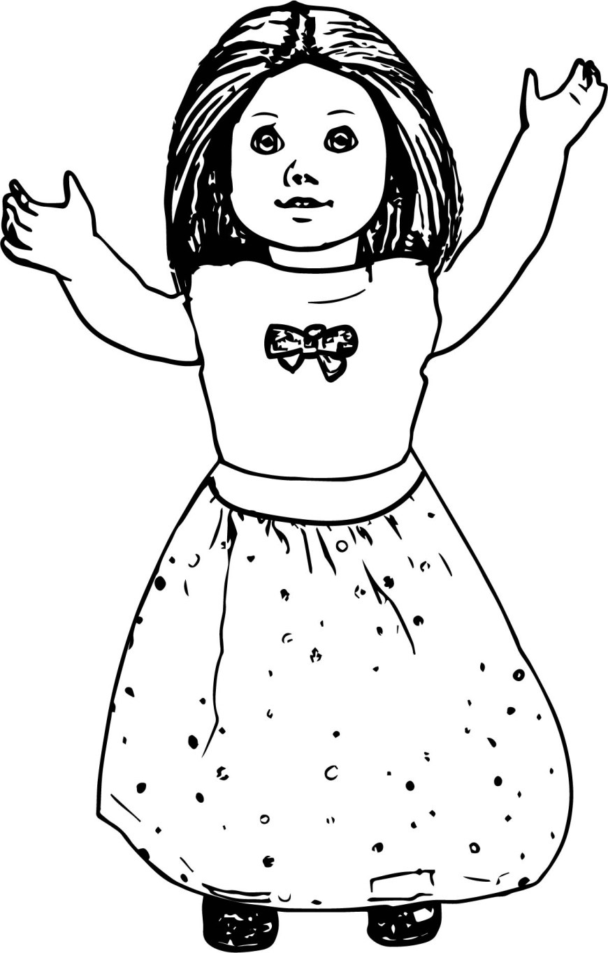 American Girl Doll Coloring Pages American Girl Doll Toy Coloring Page Wecoloringpage