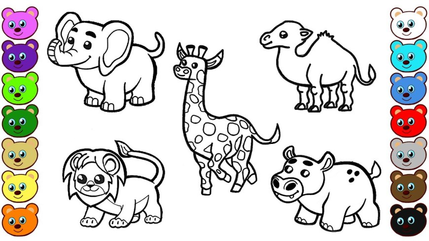 Animals Coloring Pages Coloring Page Fantastic Animal Coloring Books Free