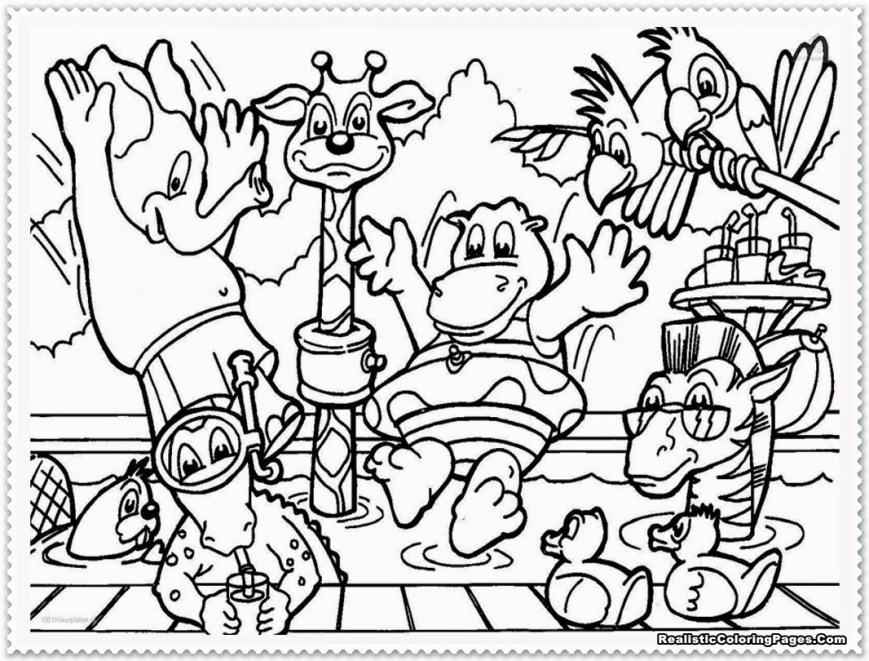 Animals Coloring Pages Coloring Pages For Kids Animals 28 Collection Of Zoo Animal Toddlers