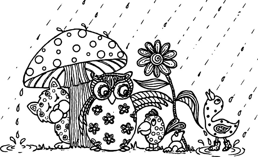 April Coloring Pages April Showers Bring May Flowers Animal April Coloring Page