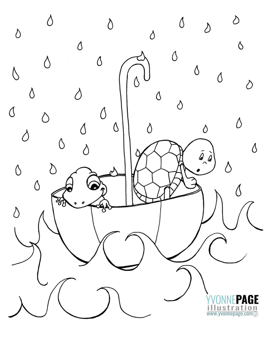 April Coloring Pages April Showers Coloring Pages Coloring Pages For Kids