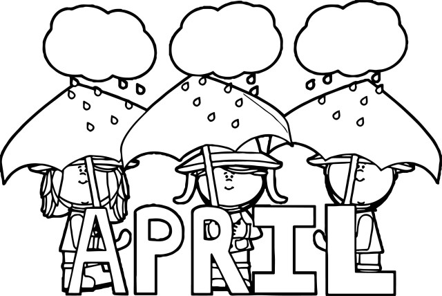 25+ Creative Picture of April Coloring Pages - davemelillo.com