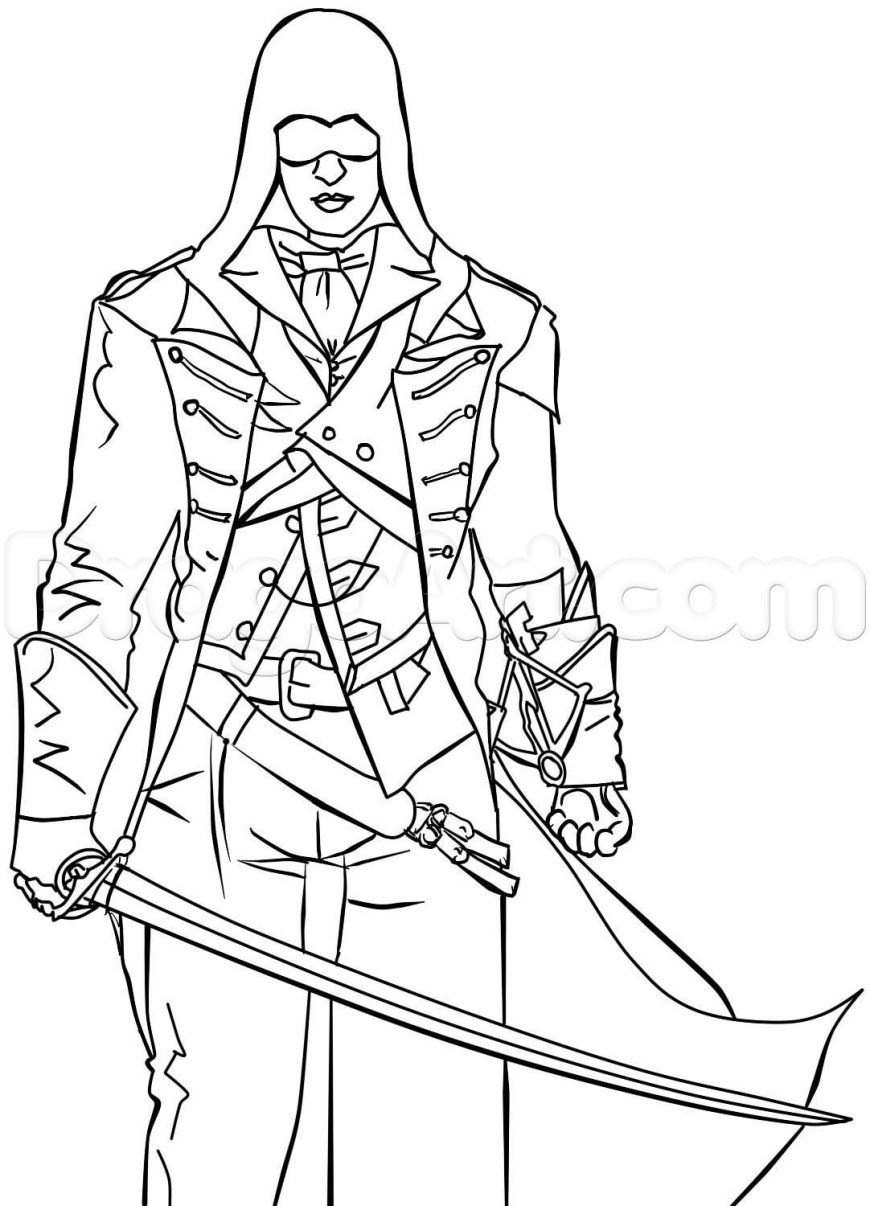 Assassin's Creed Coloring Pages Assassin Creed Unity Coloring Pages 2019 Open Coloring Pages