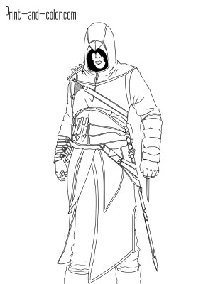 Assassin's Creed Coloring Pages Assassins Creed Coloring Pages Print And Color