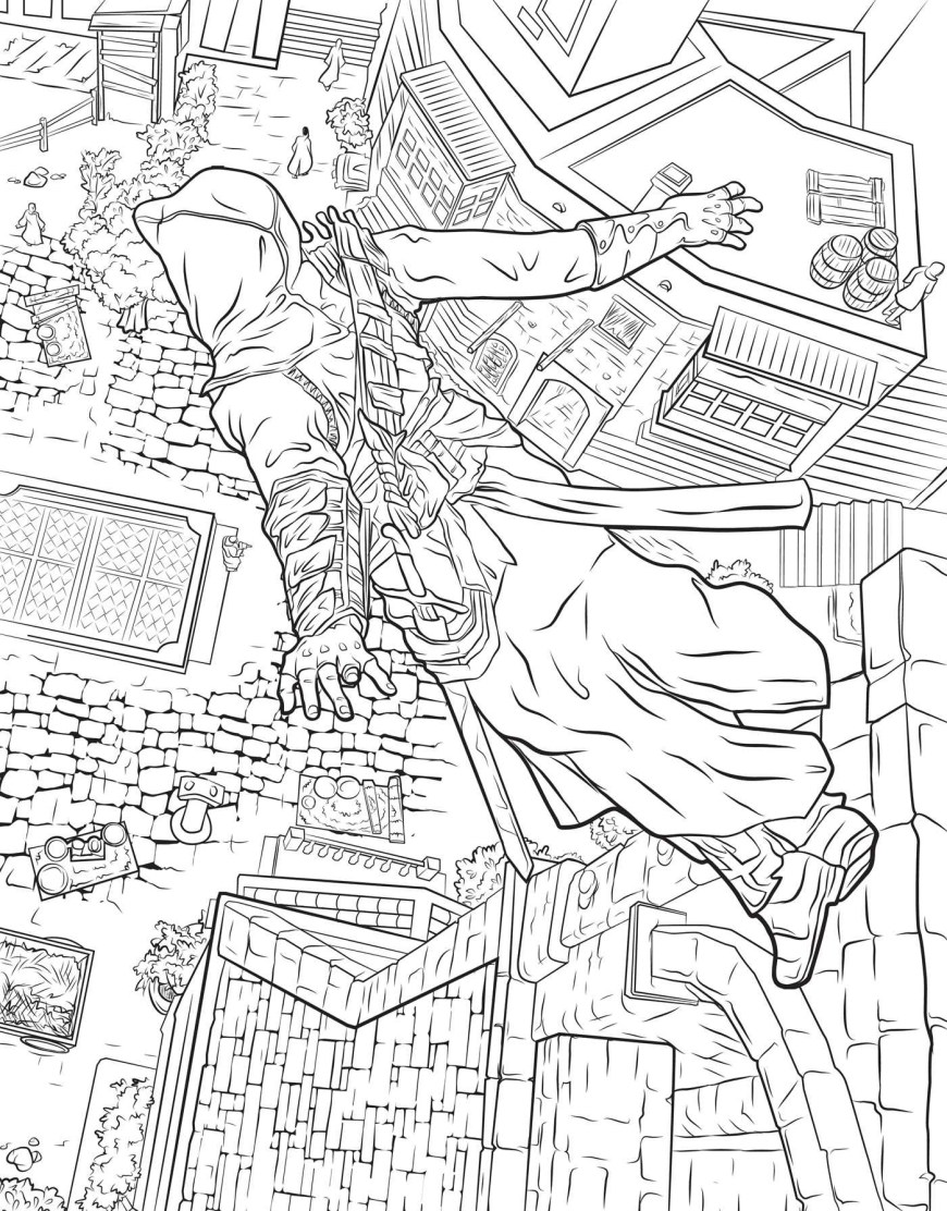 Assassin's Creed Coloring Pages Assassins Creed The Official Coloring Book Book Insight