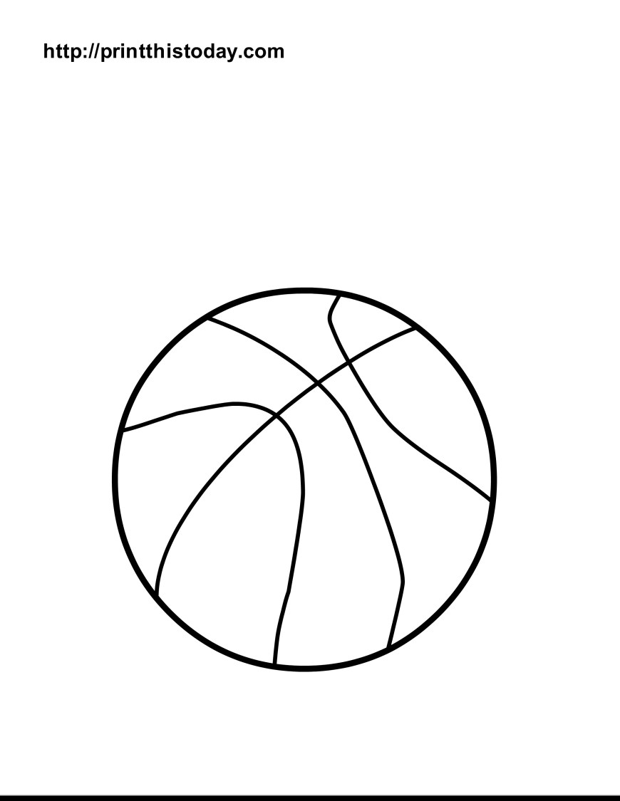 Ball Coloring Pages Evy Coloring Pages For Kids With Basketball Ball Coloring Page