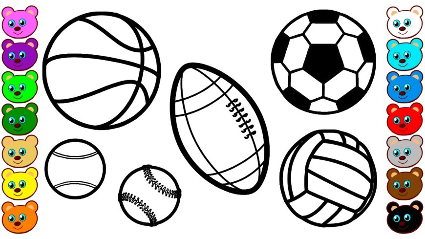 Ball Coloring Pages Sport Balls Coloring Pages For Kids Youtube