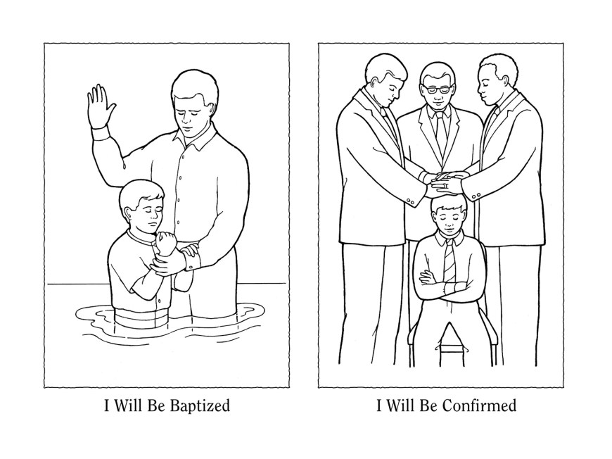 Baptism Coloring Pages Nursery Manual Page 111 I Will Be Baptized And Confirmed