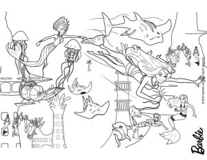 Barbie Mermaid Coloring Pages Barbie Mermaid Coloring Pages Games Best Of In A Tale Wuming