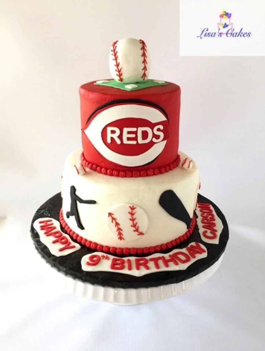 Baseball Birthday Cake Cincinnati Reds Baseball Birthday Cake Cakecentral