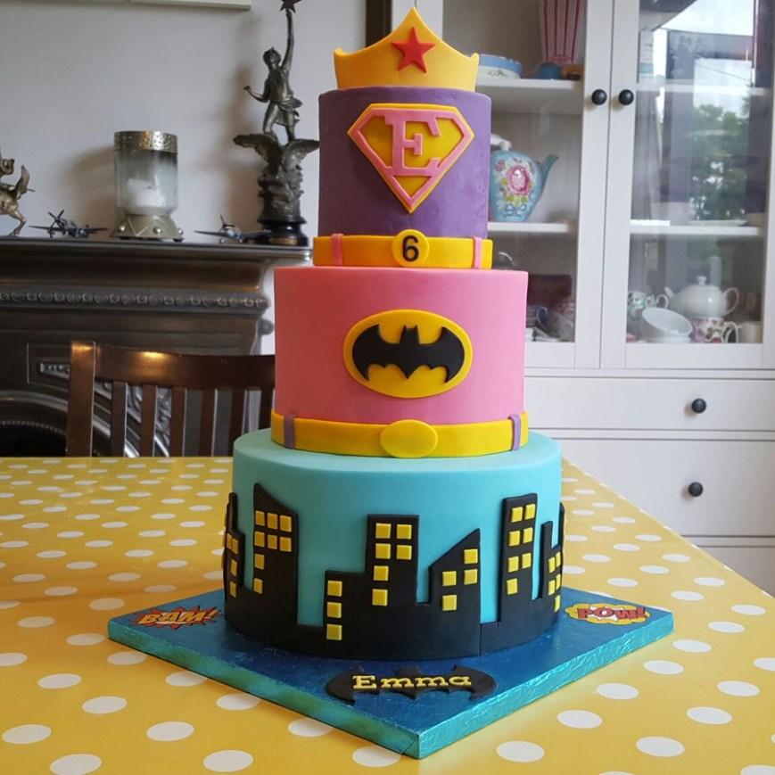 Batgirl Birthday Cake Girls Superhero Supergirl Batgirl Birthday Cake Cakecentral