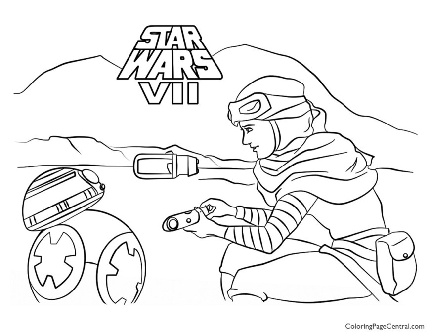 Bb8 Coloring Page Bb8 Coloring Page Star Wars Rey And Bb 8 Coloring Page Coloring