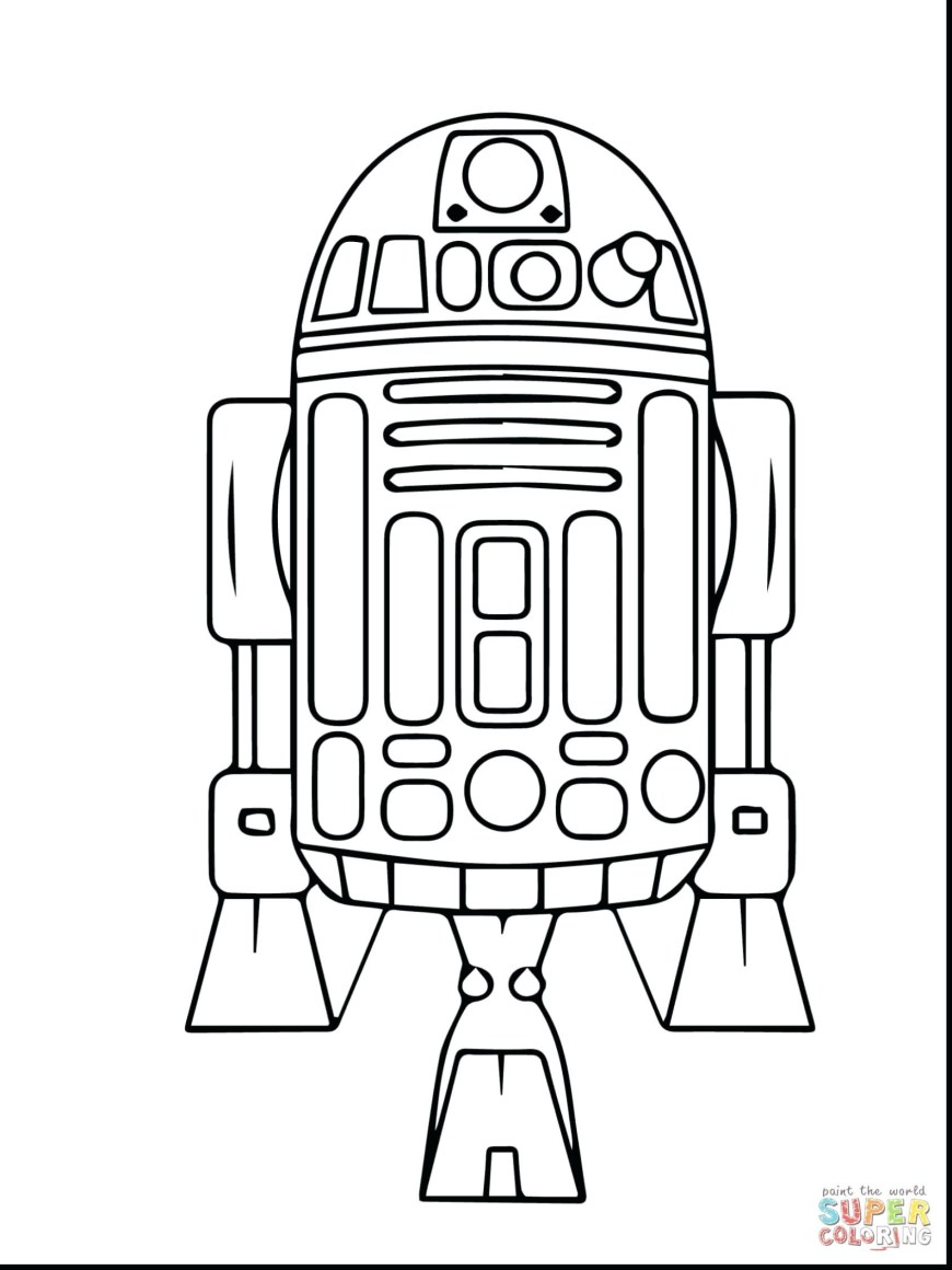 Bb8 Coloring Page R2d2 Coloring Page Ribsvigyapan Com Pages Of Robot Also Bb8 Droid