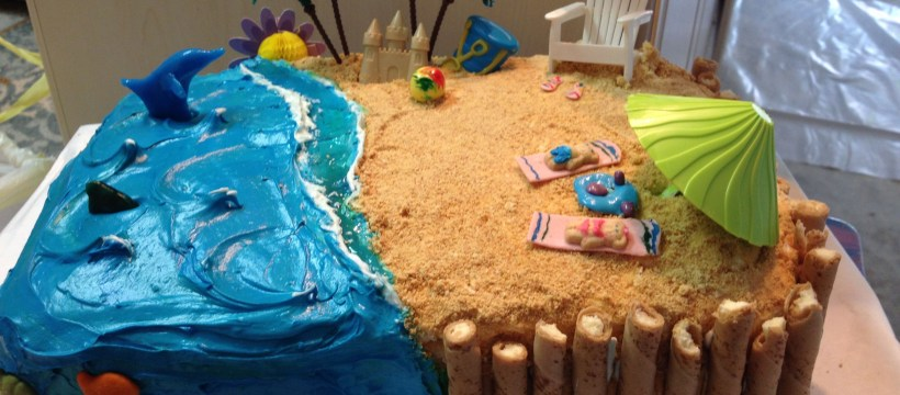 Beach Birthday Cakes Beach Birthday Cake Beach Cakes And More Pinte