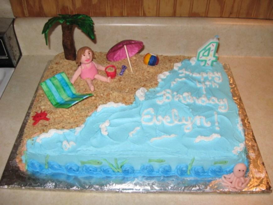 Beach Birthday Cakes Beach Theme Birthday Cake Cakecentral