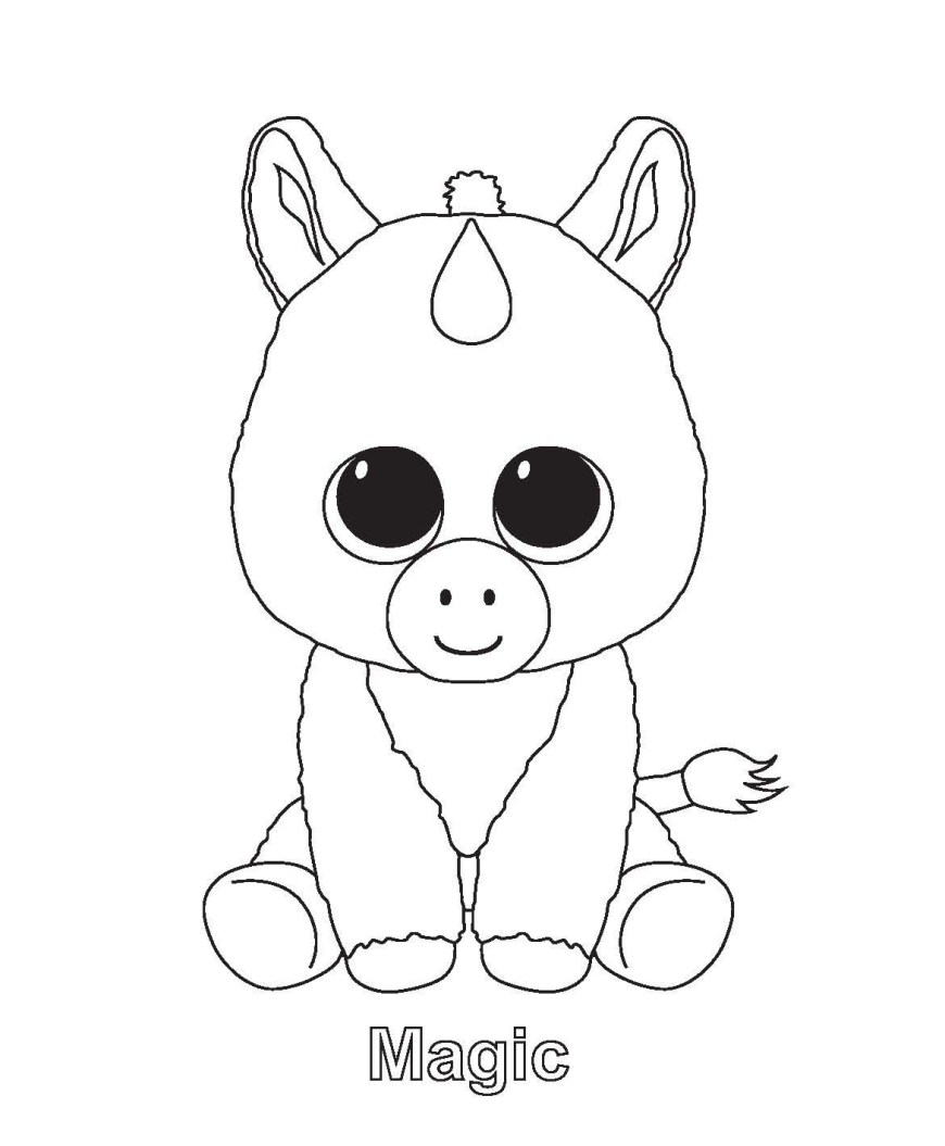 Beanie Boo Coloring Pages New Ty Beanie Boo Coloring Pages And Print For Free Free Coloring Book