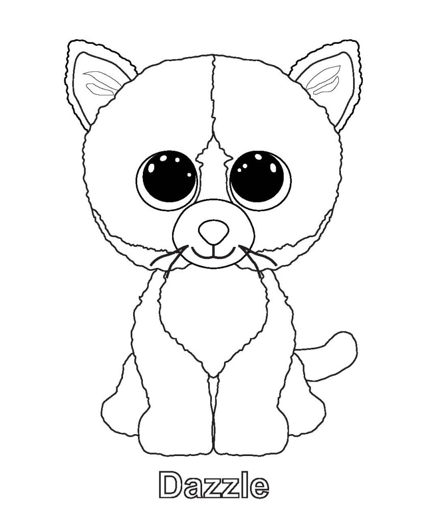 Beanie Boo Coloring Pages Ty Beanie Boo Coloring Pages Download And Print For Free Coloring Home