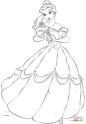 Belle Coloring Pages Belle Coloring Page Free Printable Coloring Pages