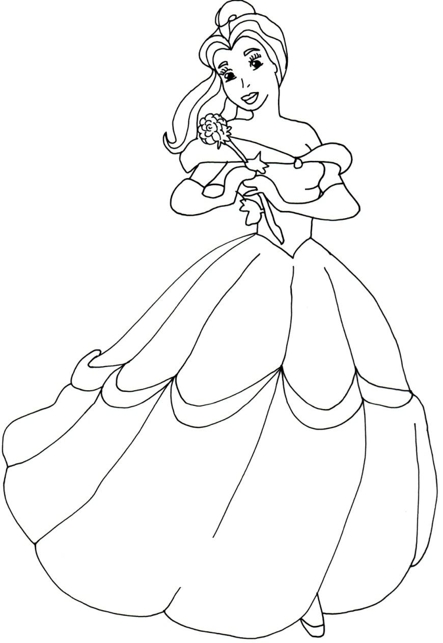 Belle Coloring Pages Belle Coloring Pages Printable Coloringstar