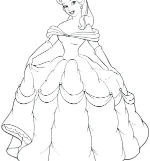 Belle Coloring Pages Princess Belle Coloring Page Reduced Fresh Pag Unknown Level