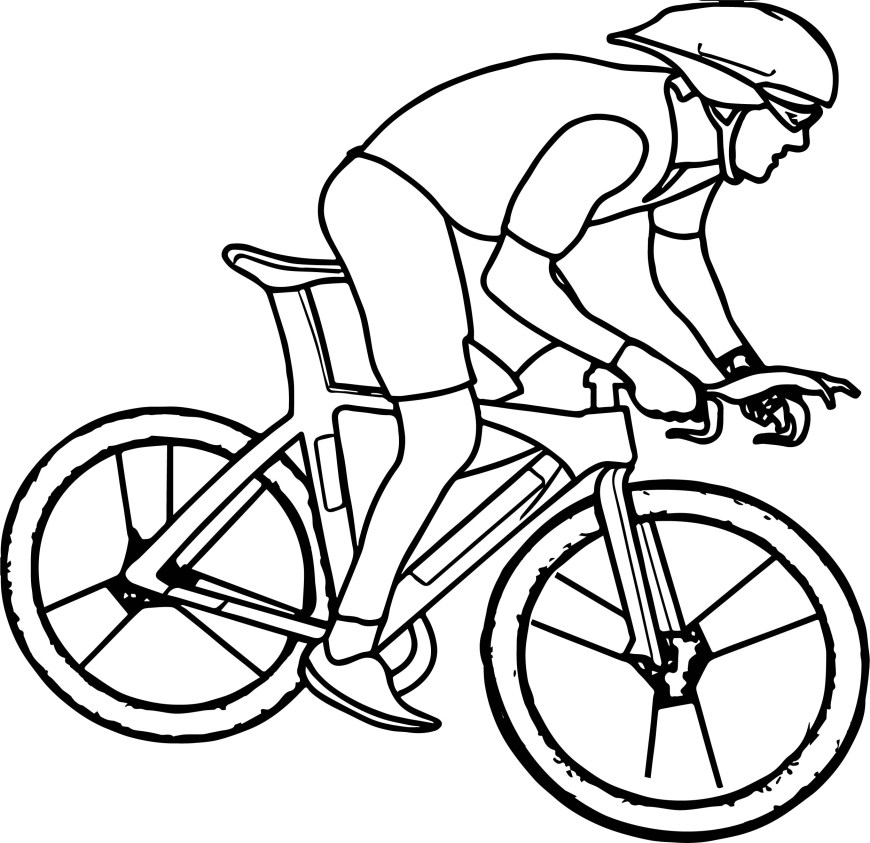 Bike Coloring Pages Cycling Bike Coloring Page Wecoloringpage