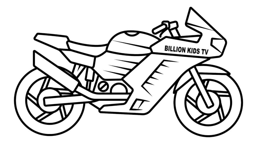Bike Coloring Pages Drawing Sport Bike Coloring For Kids Youtube