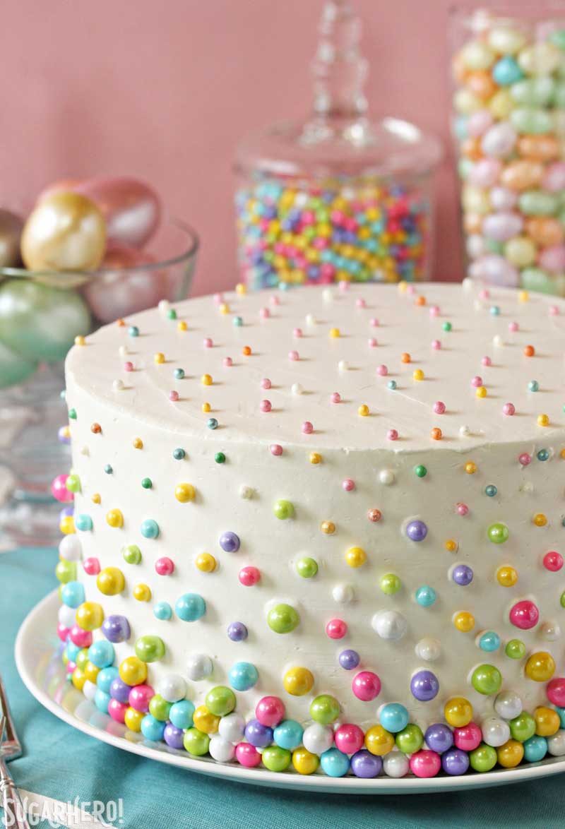 Birthday Cake Decorating Ideas Easter Polka Dot Cake Sugarhero