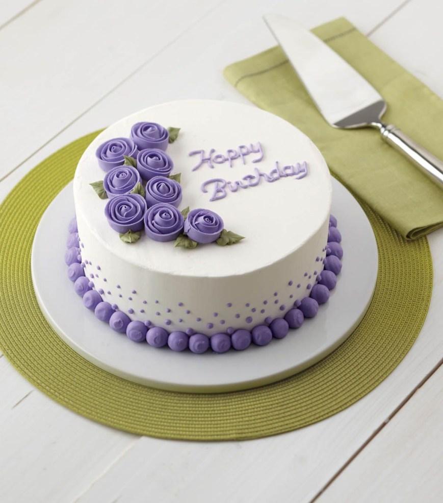Birthday Cake Design Vivid Violet Roses Cake Birthday Cake Wilton Cakes Wilton