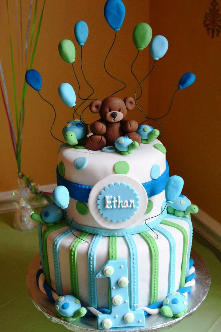Birthday Cake For Boy First Birthday Ba Cake Boy Ideas Protoblogr Design 1st