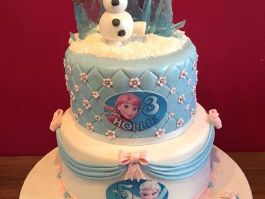 Birthday Cake For Sister Disney Frozen Birthday Cake For Sisters Cakecentral
